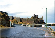 SC2484 : Peel, West Quay and Castle by David Dixon