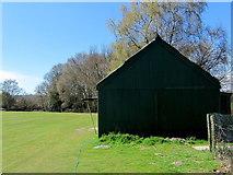 TQ8115 : Westfield Cricket Club Pavilion by Chris Heaton