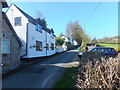 SJ2736 : Houses up the hill in Pont-Faen by John Haynes