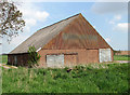 TG3808 : Big shed by Low Farm, Beighton by Evelyn Simak