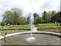 TQ2549 : Fountain in Priory Park by Paul Gillett