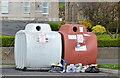J4036 : Recycling bins, Dundrum by Albert Bridge