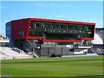 SJ8195 : Players and Media Centre, Old Trafford Cricket Ground by Mark Percy