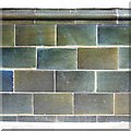 SK7519 : Wall tiles, the King's Head, Nottingham Street, Melton Mowbray by Robin Stott