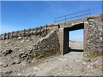 SH6056 : Llanberis path beneath the Snowdon Mountain Railway at Clogwyn by Gareth James