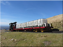 SH6056 : Works train on Snowdon by Gareth James