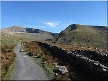 SH5858 : Snowdon and Moel Cynghorion from the Llanberis Path by Gareth James