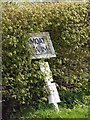 TM2571 : Moat Farm sign by Geographer