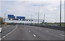 TQ5571 : M25 Junction 2 by Julian P Guffogg