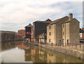 SD5705 : Leeds and Liverpool Canal, Gibson's Warehouse at Wigan Pier by David Dixon