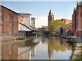 SD5705 : Leeds and Liverpool Canal, Wigan Pier by David Dixon