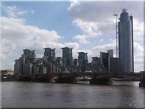 TQ3078 : Vauxhall Bridge and St George's Wharf SW8 by Robin Sones