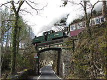 SH6441 : Earl of Merioneth departs Tan-y-Bwlch over the B4410 by Gareth James