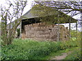 TM2866 : Barn near the footpath from Clay Hill to Dennington Village Hall by Adrian Cable