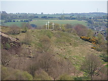 SJ9344 : Easter crosses at Parkhall Country Park by Chris Beaver