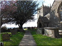 ST7581 : The Cotswold Way at St John the Baptist Church by Ian S