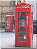 SK3587 : Sheffield: telephone boxes in Surrey Street by Chris Downer
