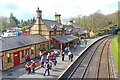 SD3484 : Haverthwaite Station Platform by Mike Smith