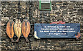 NU2519 : Shop Sign in Craster by Kim Fyson