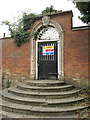 SP0967 : Gate to former walled garden, Skilts School by Robin Stott