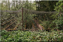 TF4077 : Trout rearing pens at Belleau Bridge by Chris