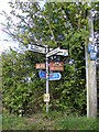 TM3886 : Roadsign on Ringsfield Road by Adrian Cable