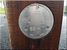 H4473 : Circular plaque, Strathroy Portrait Bench by Kenneth  Allen