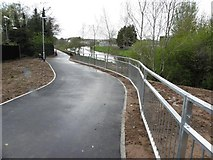 H4473 : New river-walk path, Omagh by Kenneth  Allen