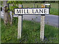 TM3887 : Mill Lane sign by Adrian Cable