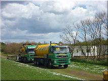 NT6578 : Coastal East Lothian : Tankers Near Seafield Pond by Richard West