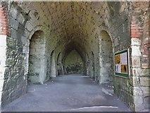 NU1341 : Interior of the lime kilns at Lindisfarne Castle by Derek Voller