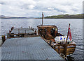 NS3786 : Mailboat at Inchmurrin pier by William Starkey