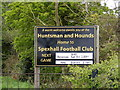 TM3882 : Spexhall Football Club sign by Adrian Cable