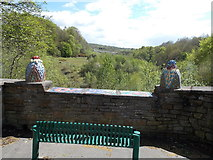 ST1599 : A bench with a  view of the Rhymney Valley, Gilfach by Jaggery