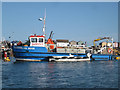 SX9372 : Working boats: Survey vessel, Teignmouth harbour by Robin Stott
