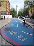 TQ3179 : Barclays Cycle Superhighway CS7 by Patrick Mackie