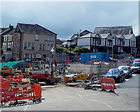 ST1599 : Wood Street side of the Hanbury Square redevelopment, Bargoed by Jaggery