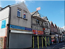ST1599 : Three shut and shuttered shops, Hanbury Road, Bargoed by Jaggery