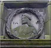 NJ9406 : Mercat Cross Panel: James II by Bill Harrison