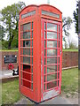 TM3989 : Telephone Box on the B1062 Bungay Road by Adrian Cable