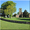 SK5042 : Strelley: church, graveyard and ha-ha by John Sutton