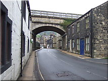SE0125 : Railway bridge over New Road, Mytholmroyd by JThomas