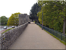 TR1457 : Canterbury City Wall by David Dixon