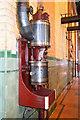 SJ8333 : Mill Meece Pumping Station - compressor by Chris Allen