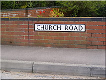 TM4087 : Church Road sign by Adrian Cable