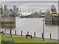 TQ4179 : Thames Barrier and Millennium Dome by David Dixon