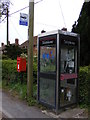 TM4087 : Telephone Box & Redisham Road Postbox by Adrian Cable