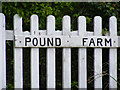 TM4186 : Pound Farm sign by Adrian Cable
