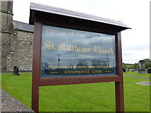 H5956 : Church Information Board, Ballynasaggart COI by Kenneth  Allen