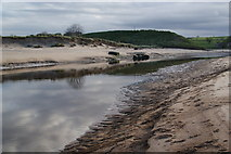 NU2410 : The River Aln at low tide by Bill Boaden